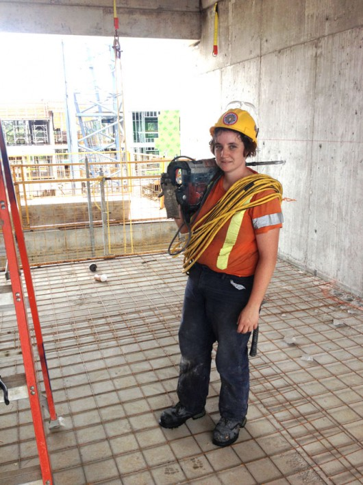 A Woman Construction Worker On The Slab Briarpatch Magazine